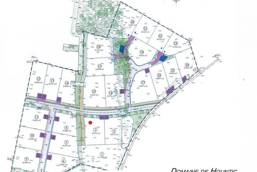 Plan de composition Domaine du Hountic Seignosse